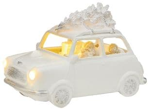 PREMIER LB192044  23X13Cm White Santa Driving Mini